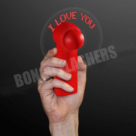 """I Love You"" Red Light Up Personal Fan, Valentine Gift"