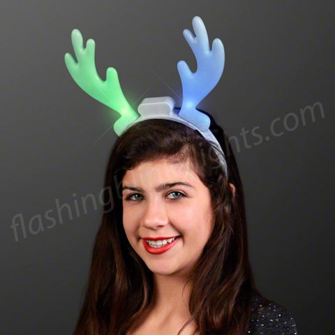 LED Reindeer Antlers Color Change Headband