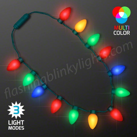 Jumbo Bulbs Christmas Lights Necklace, BULK PACKAGING – Bongo Flashers