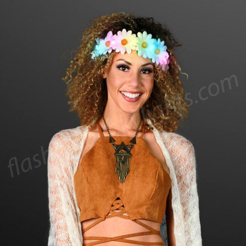 Light Up Daisy Chain - Use As Headband, Belt or Sash