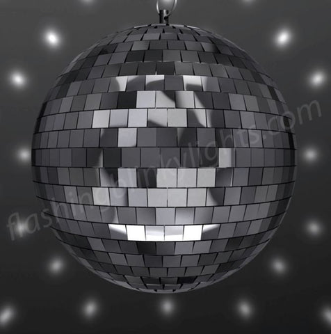 "Disco Light Set - 8"" Mirror Ball, White LED Spotlight & Motor"