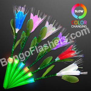 "14"" Fiber Optic Flowers In Assorted Colors"