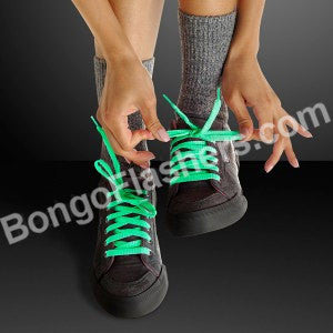 Glow-In-The-Dark Green Shoelaces