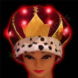 FLASHING VELVET CROWN HAT