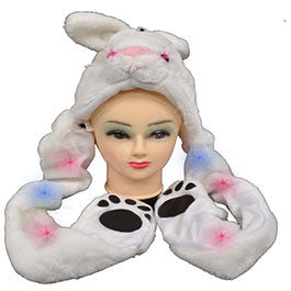Flashing Double Sided Animal Hat