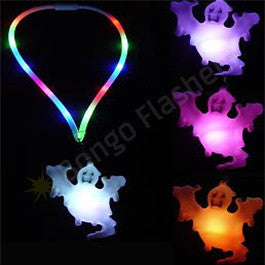 Flashing Ghost Halloween Lanyard