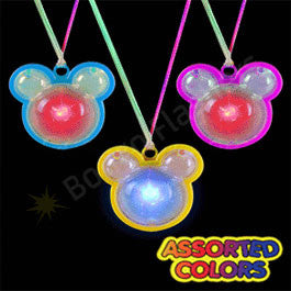 flashing mickey mouse necklace assorted