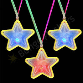Flashing Star Necklace- Assorted