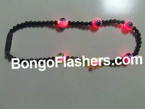 FLASHING BEADED EYEBALL NECKLACE (1 PIECE)