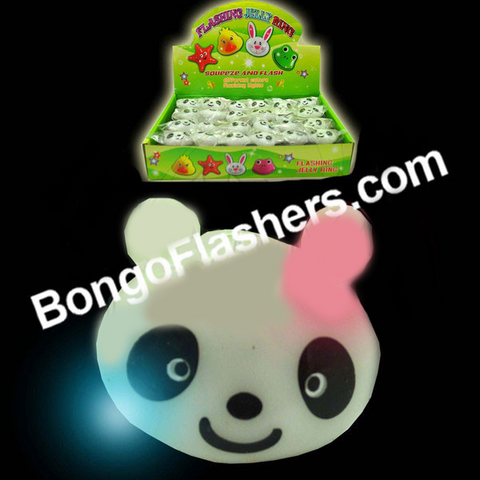 Flashing Squeeze Panda Ring (1 PIECE)