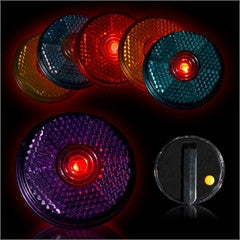Flashing 2 inch Reflectors Assorted Colors