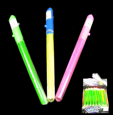 "Flashing 8"" Glitter Stick - Assorted Colors"