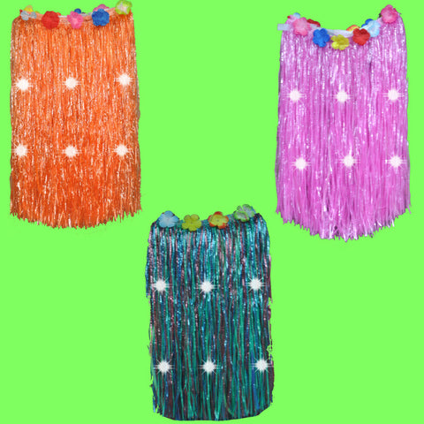 Flashing Hula Grass-Like Skirt