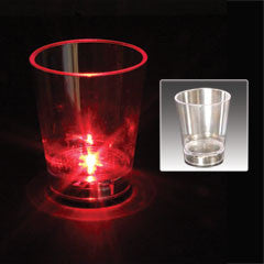 Flashing Red (Dice On Bottom) Shot Glass