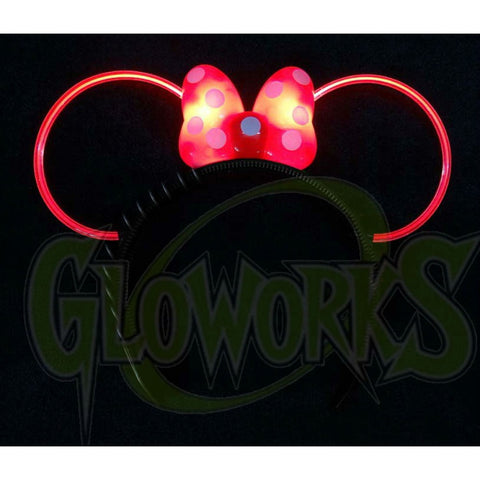 EL Wire Bow Mouse Ear Headband (1 PIECE)