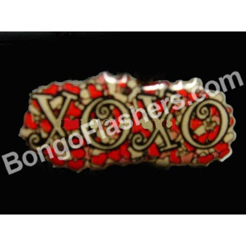 XOXO FLASHING MAGNETIC LED PIN (1 DOZEN)