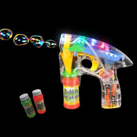 FLASHING BUBBLE GUN WITH 3 BOTTLES OF SOLUTION (1 PIECE)