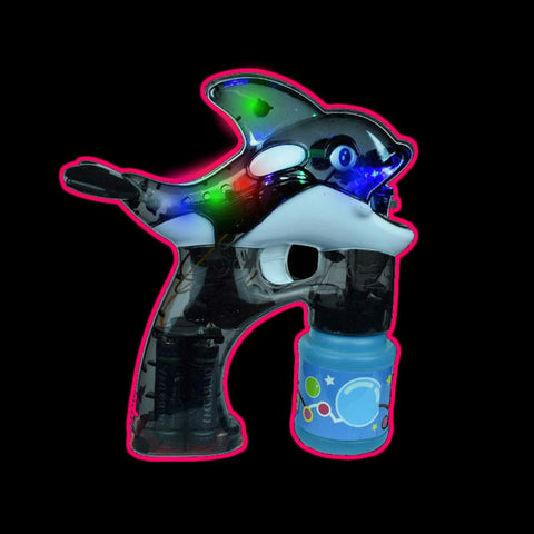 Flashing Whale Shaped Bubble Gun (1 PIECE)