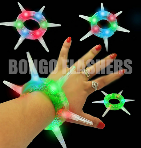 Jumbo Flashing Spiked Bracelet - Asst. Colors (1 PIECE)