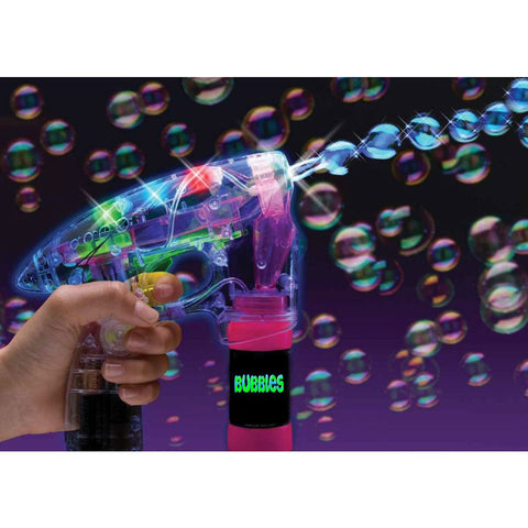 Flashing Bubble Gun with 1 Bottle of Solution (1 PIECE)
