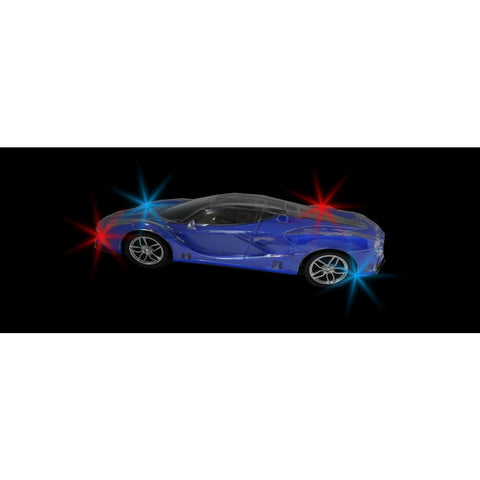 "9"" Moving Flashing Toy Car - Blue Sports Car"