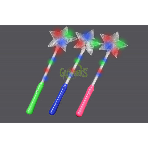 FLASHING STAR WAND WITH ASSORTED COLOR HANDLES (1 PIECE)