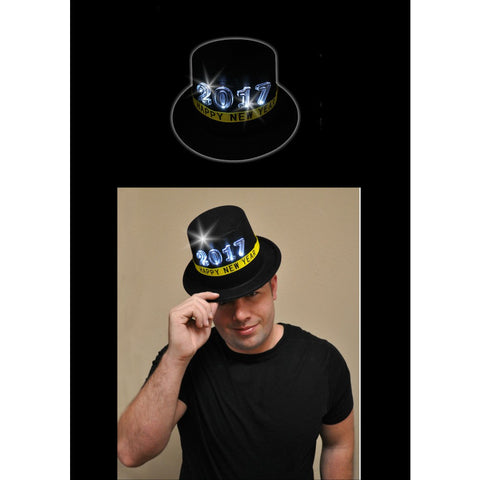 2017 LED Light Up Top Hat (1 PIECE)