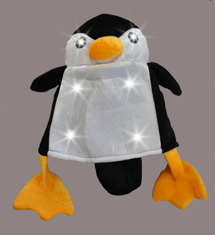 FLASHING PENGUIN HAT (1 PIECE)