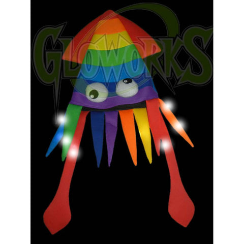 Flashing Squid Rainbow Hat (1 PIECE)