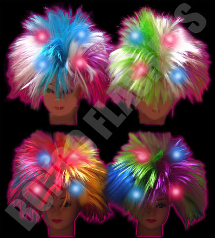 FLASHING WIG - ASSORTED COLORS (1 PIECE)