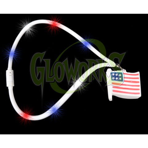 USA Flag Flashing Lanyard (1 PIECE)