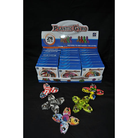 ASSORTED STYLE PRINTED FIDGET SPINNER WITH 4 POINTS (1 PIECE)
