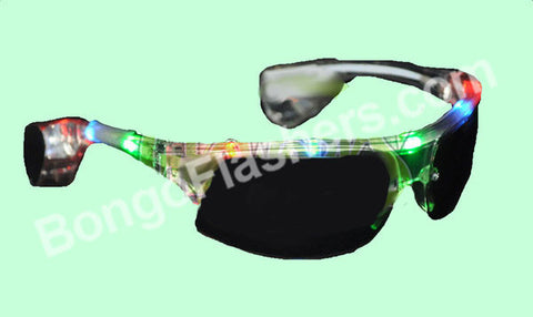 AVIATOR STYLE LED SUNGLASSES - MULTI COLOR (1 PIECE)