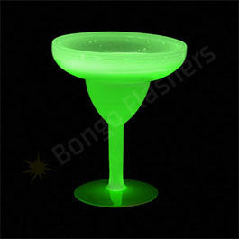 Glow Margarita Glass 10 oz. - Green
