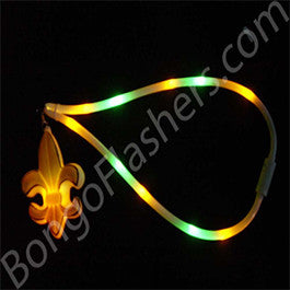 Glowing Mardi Gras Necklace