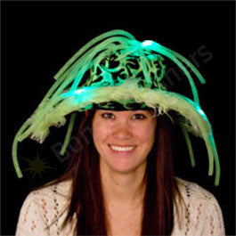 Green LED Show Daddy Noodle Hat