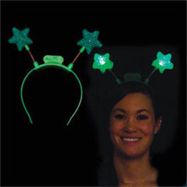 Green LED Star Head Boppers