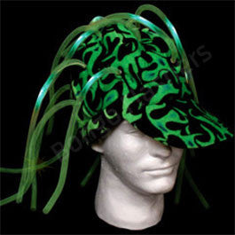 Green Light Up Noodle Cap