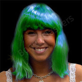 Green Neon Wig - Non Flashing
