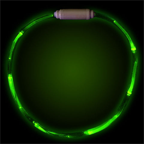 "Green 27"" LED Fiber Optic Necklace"