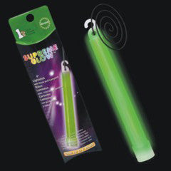 "Green 6"" Glow Stick Retail Pack"