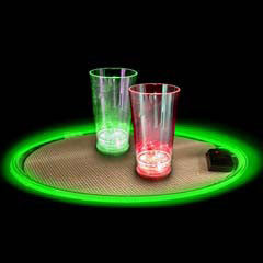"Green Light Up 14"" Serving Tray"