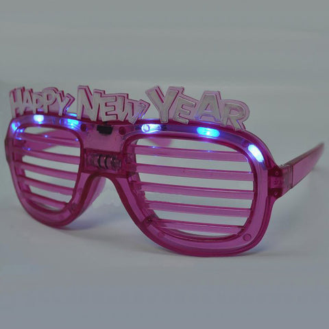Happy New Year Shutter Flashing Shades