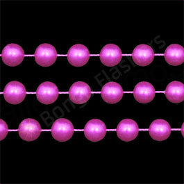HOT PINK FAUX PEARL EXTRA LONG BEADS