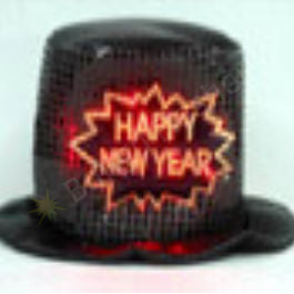 Happy New Year Sparkly Top Hat