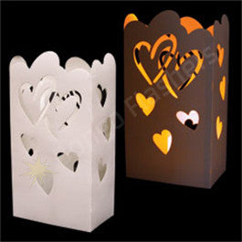 Heart Cutout Luminary Bag Inserts