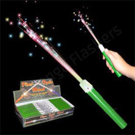 LED Fiber Optic Green Handle Wands