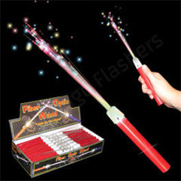 LED Fiber Optic Red Handle Wands