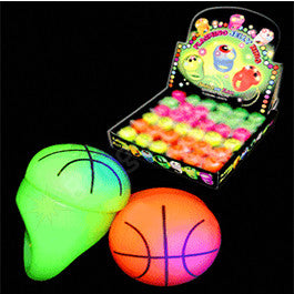 LED Jelly Basketball Ring Assorted Colors