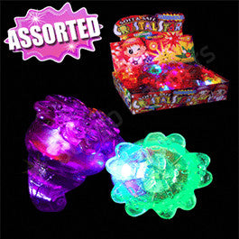 LED Jelly Flower Ring - Assorted